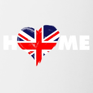 Home love England United Kingdom - Contrasting Mug
