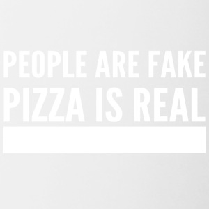 People are fake pizza is real - Contrasting Mug