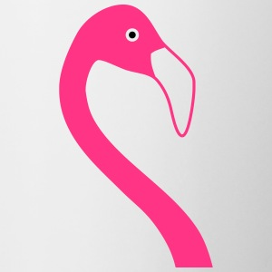 Flamingo head - Contrasting Mug