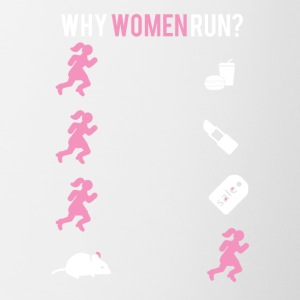 Why women run? - Contrasting Mug