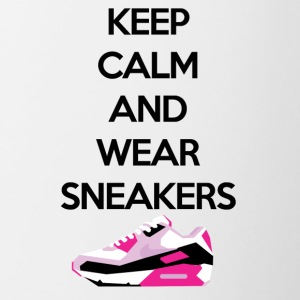 Keep calm and wear sneakers - Contrasting Mug