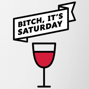 Trump Saturday Bitch - Contrasting Mug
