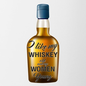 Whiskey - I like my Whiskey old and my women young - Tasse zweifarbig