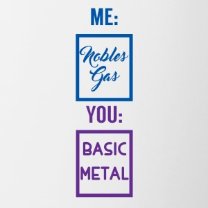 Periodensystem: Me - Nobles Gas. You - Basic Metal - Tasse zweifarbig