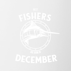 Present for fishers born in December - Contrasting Mug