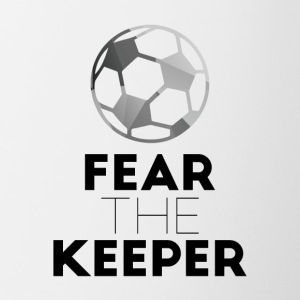 Football: Fear the keeper! - Contrasting Mug