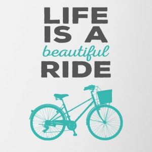 Bicycle: Life is a beautiful ride - Contrasting Mug