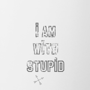 i am with stupid - Tasse zweifarbig