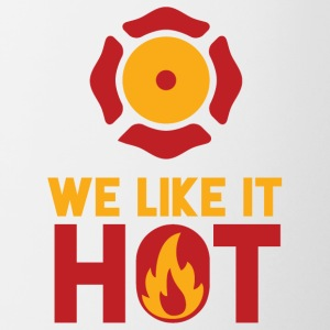 Fire Department: We Like It Hot - Contrasting Mug