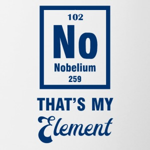 Periodic system: Nobelium - that's my element - Contrasting Mug