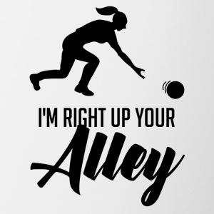 Bowling / Bowler: I´m Right Up Your Alley - Tasse zweifarbig