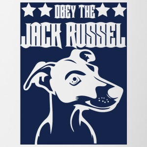 Dog / Jack Russell: Obey The Jack Russell - Contrasting Mug