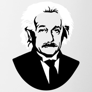Albert Einstein Genius bust picture graphic - Contrasting Mug