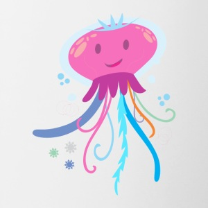 Sweet little jellyfish - Contrasting Mug