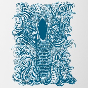Snake-and-Water-in-Blue - Taza en dos colores