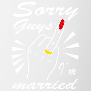 Sorry guys I'm married - Contrasting Mug