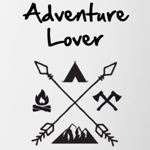 Adventure Lover - Tasse zweifarbig