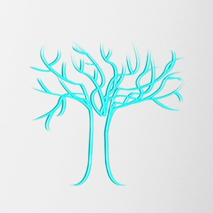 Tree of life, light blue - Contrasting Mug