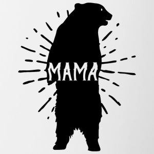 Mama Bear Mothers Day - Mother 's Day - Contrasting Mug