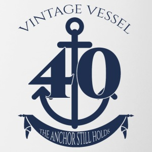 40th Birthday: Vintage Vessel - 40 - The Anchor - Contrasting Mug