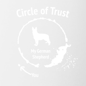 Funny German Shepherd Shirt - Circle of Trust - Contrasting Mug