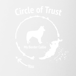 Drôle Border Collie Shirt - Cercle de confiance - Tasse bicolore