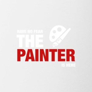 Avoir No Fear The Painter Is Here - Tasse bicolore