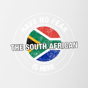Avez-No Fear The South African Is Here Shirt - Tasse bicolore