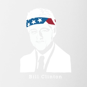 Il presidente Bill Clinton americano Patriot Vintage - Tazze bicolor