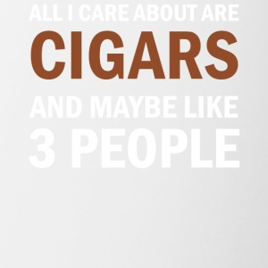 All I Care About Is Cigars and Maybe Like 3 People - Contrasting Mug