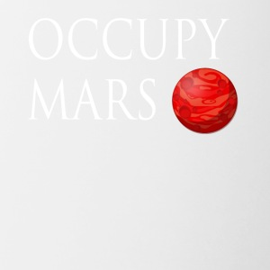 Occupy March Space - Tasse zweifarbig