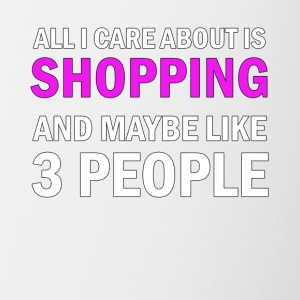 All I Care About is Shopping - Tvåfärgad mugg