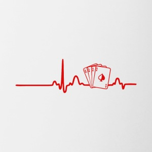 EKG Heart Line Poker, Cards - Mok tweekleurig