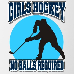 Girls Hockey No Balls Required - Contrasting Mug