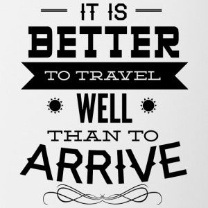 it is better to travel - Contrasting Mug