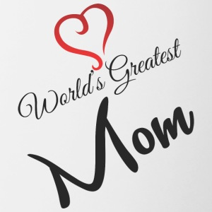 WORLD GREATEST MOM - Tazze bicolor