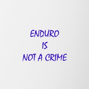 enduro is not a crime - Tasse zweifarbig