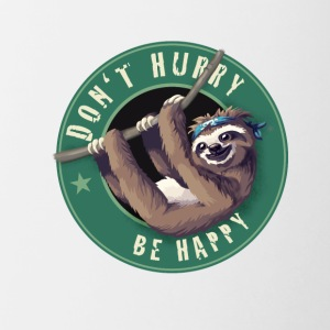 Sloth Starbucks Button lazy fun Humor LOL chill - Contrasting Mug