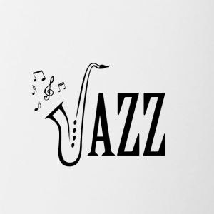 Cool Jazz Music Shirt, Saxophone and Musical notes - Contrasting Mug
