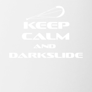 KITESURFING - KEEP CALM AND DARKSLIDE - Contrasting Mug