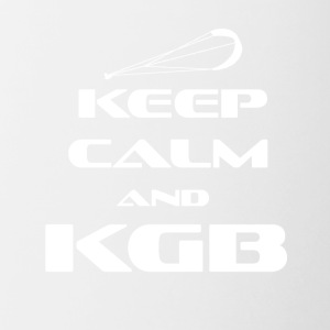 KITESURFING - KEEP CALM AND KGB - Contrasting Mug