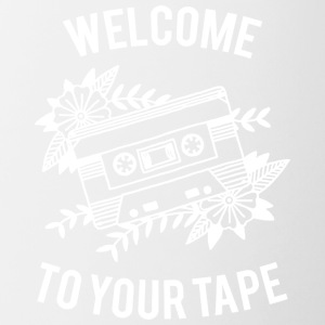 Welcome to your tape - Tasse zweifarbig