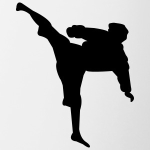 Karate fighter silhouette 4 - Contrasting Mug