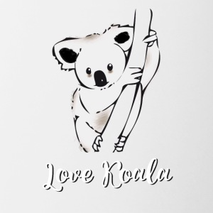 koala ours accroché arbre froid sieste taille basse froid lol - Tasse bicolore