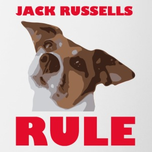 Jack russels rosso Regola2 - Tazze bicolor
