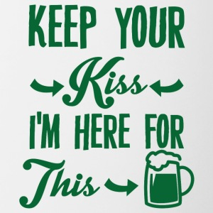Irland / St. Patrick´s Day: Keep Your Kiss. I´m - Tasse zweifarbig