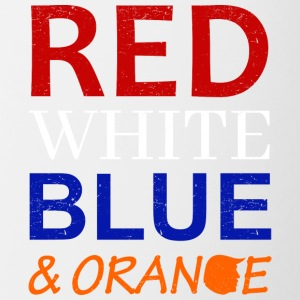 Red White Blue and Orange - Tasse zweifarbig