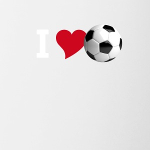 I love soccer love football tor team club player - Contrasting Mug