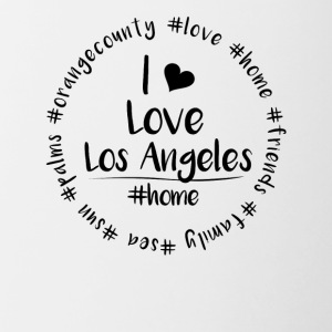 I love Los Angeles - Orange County - Tasse zweifarbig