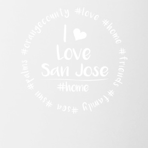 I love San Jose - Orange County - Contrasting Mug